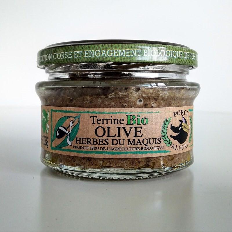 Terrine bio corse olives et herbes du maquis