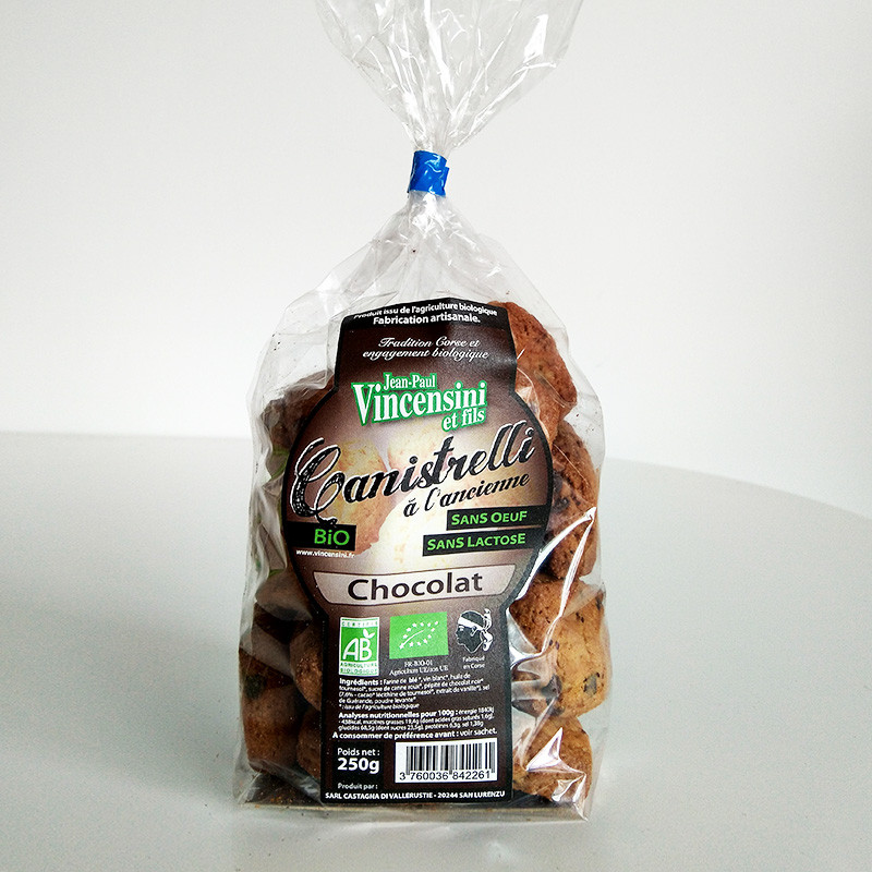 Canistrelli pépites de chocolat bio à l'ancienne